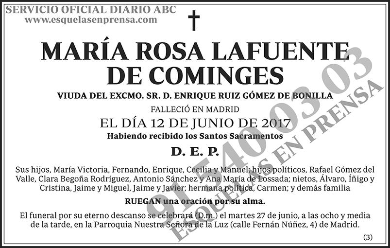 María Rosa Lafuente de Cominges
